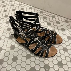 Brian Atwood Leather Gladiator Sandal. Size 6